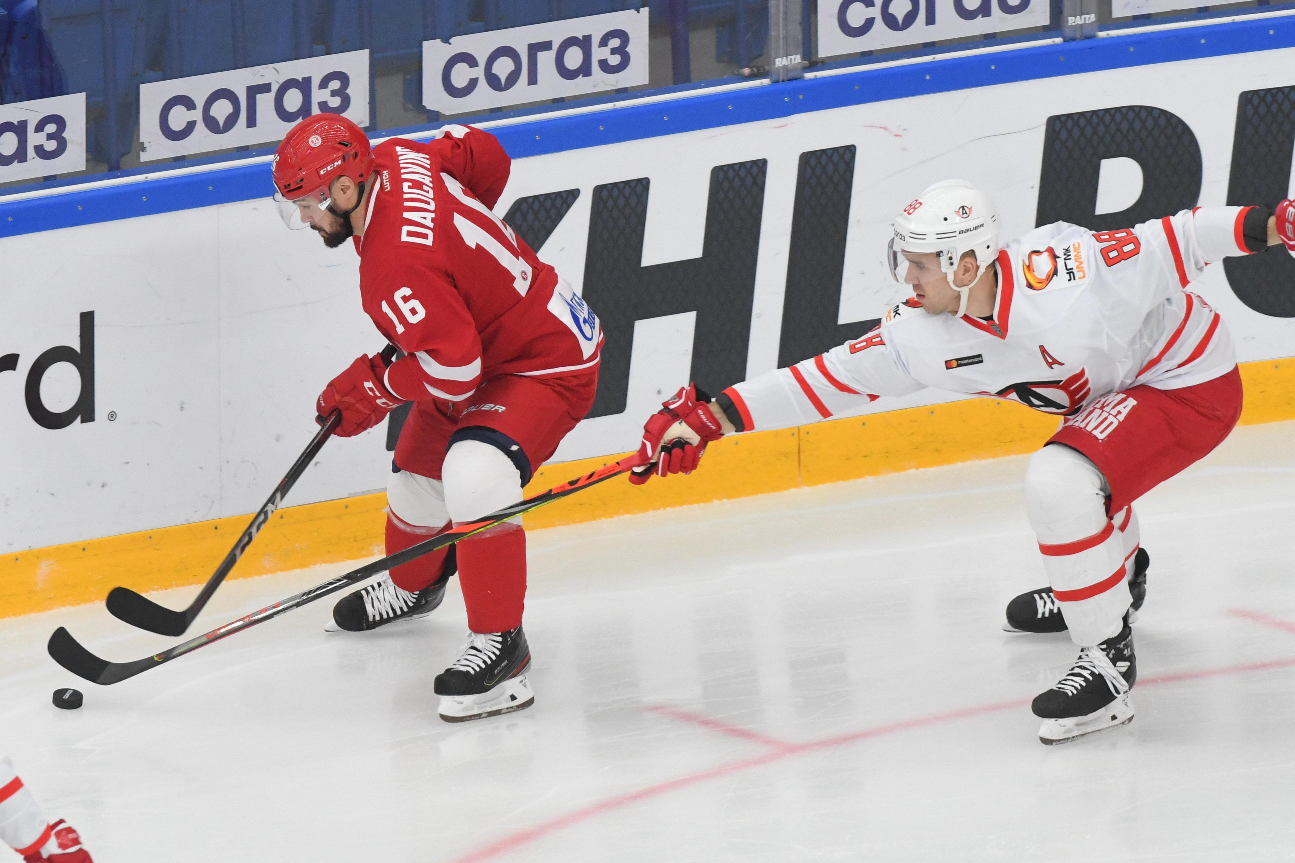 """Daugaviņš turpina krāt punktus un ar rezultatīvu piespēli palīdz """"Vitjaz"""" uzvarēt"""