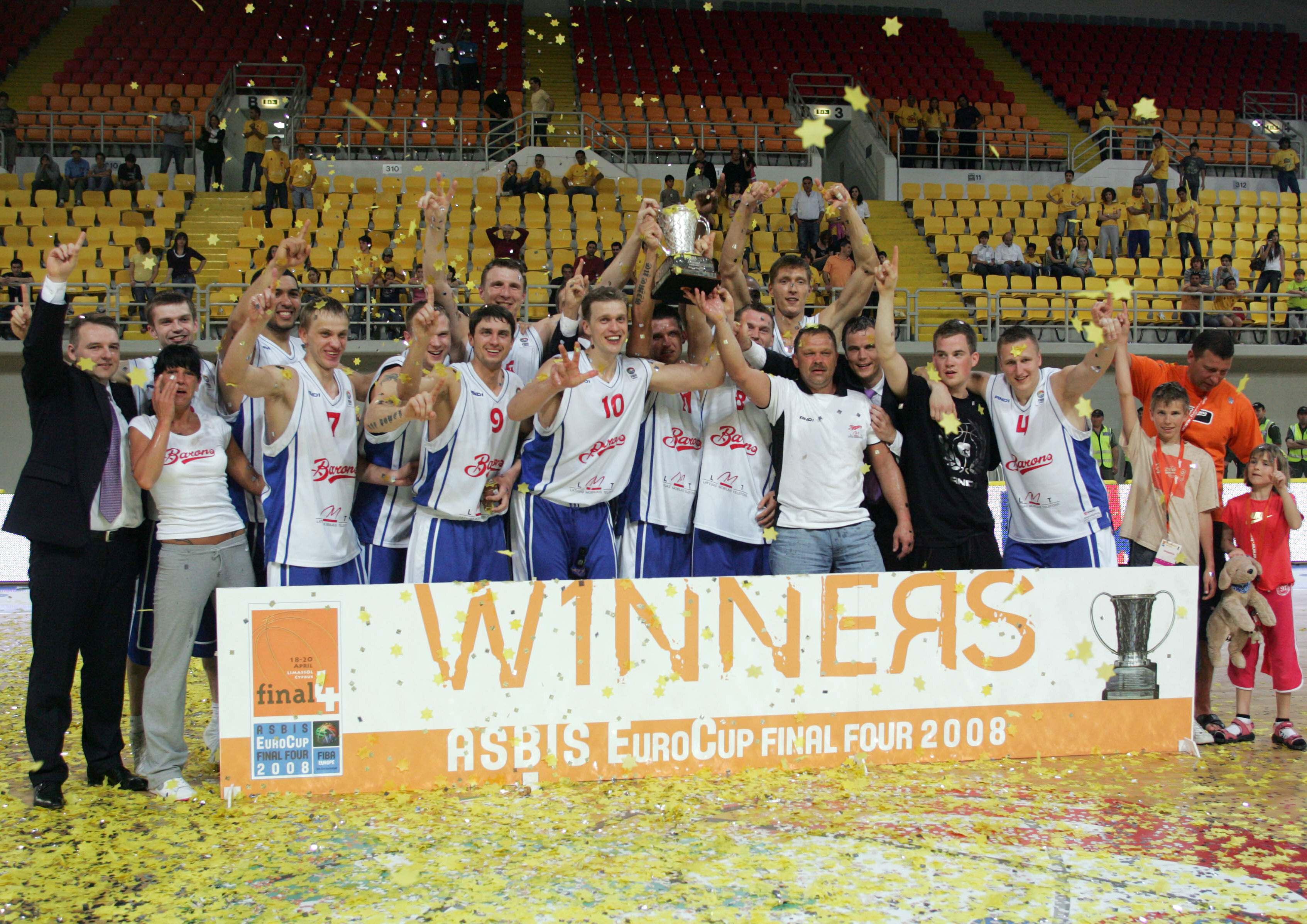 Skaļākās latviešu klubu uzvaras Eiropas basketbolā