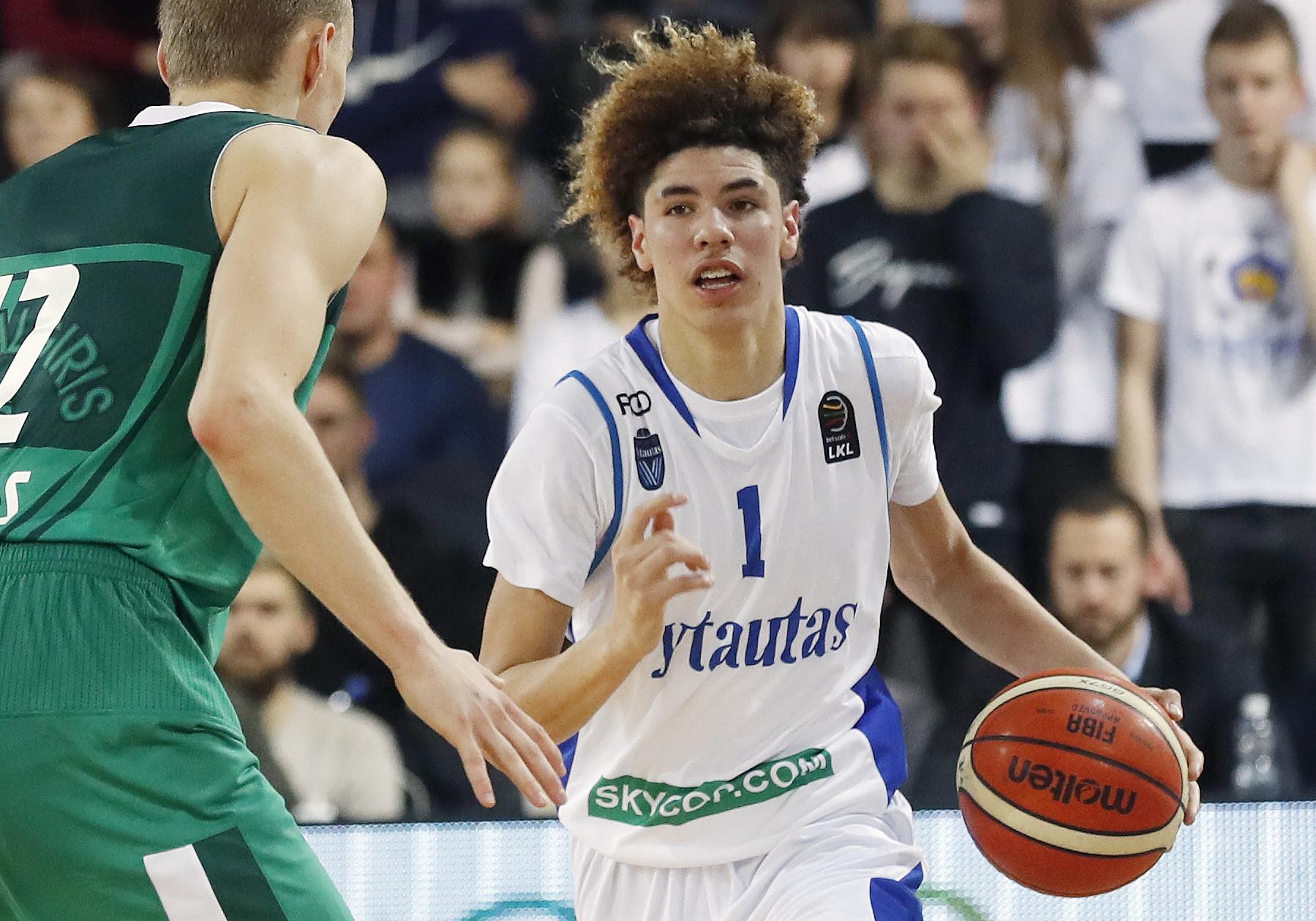 No Lietuvas līgas līdz NBA rekordam - pirmziemnieks Lamelo Bols