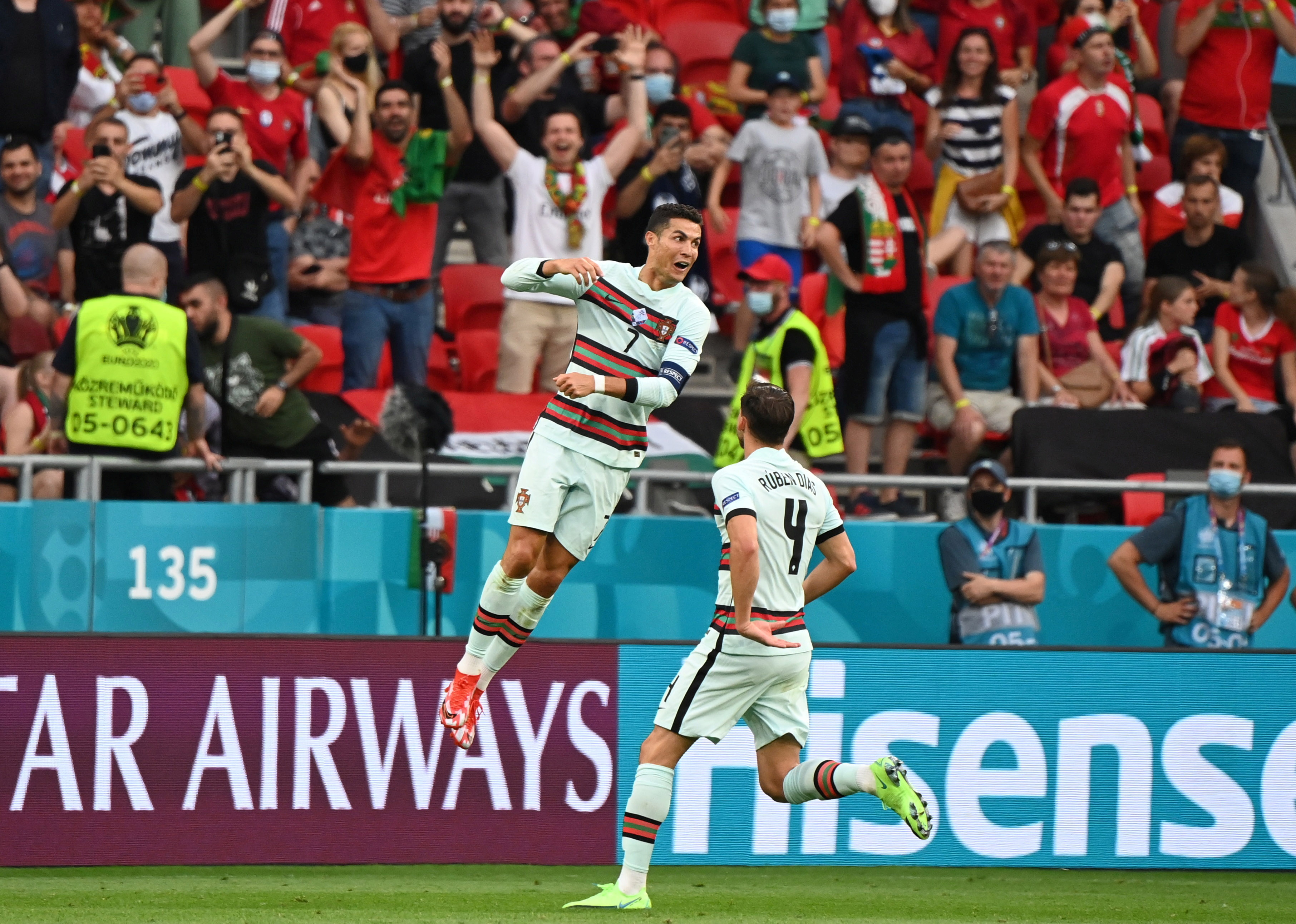 EURO 2020: Ronaldu vienā mačā uzstāda četrus rekordus