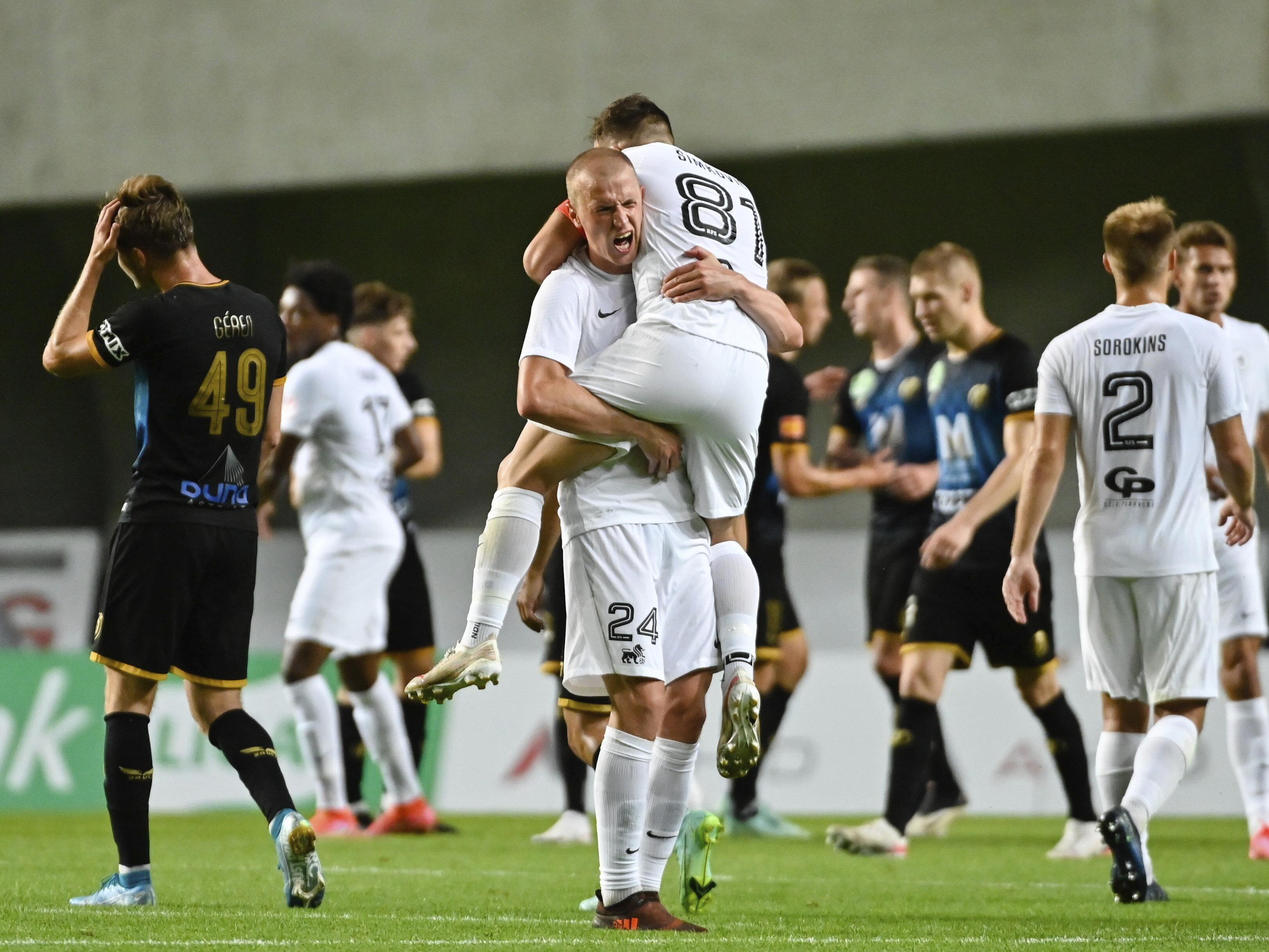 """""""Riga"""" iekļūst UEFA Konferences līgas kvalifikācijas """"play-off""""; trilleris turpinās arī pēc mača"""